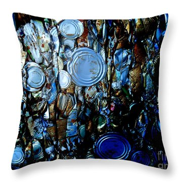 Smashed Throw Pillow by Cynthia Lagoudakis