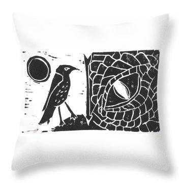 Smaug And The Thrush Throw Pillow