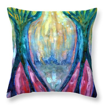 Smeared Morning Throw Pillow by Wojtek Kowalski