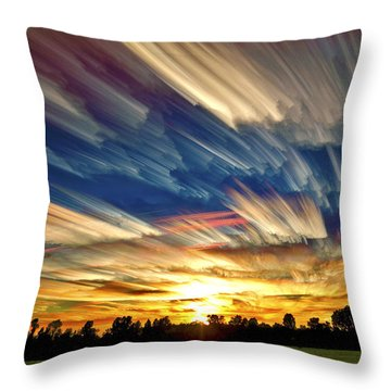 Red Sky Throw Pillows