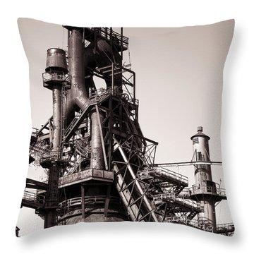Smelting Furnace Throw Pillow