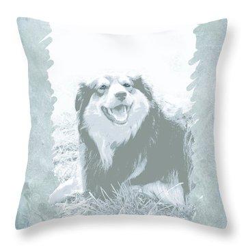 Smile Throw Pillow by Ann Powell