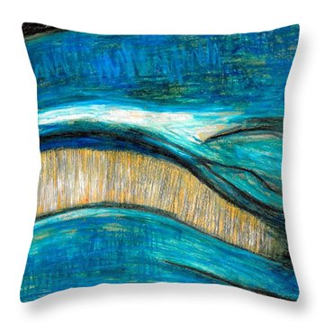 Smile Throw Pillow by Carla Sa Fernandes