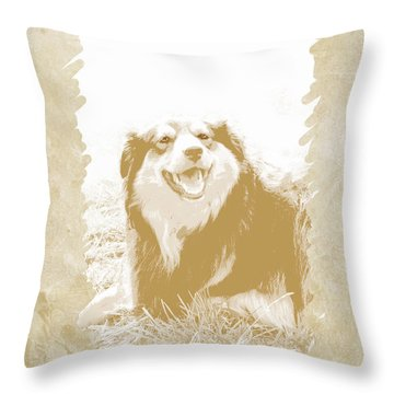 Smile II Throw Pillow by Ann Powell