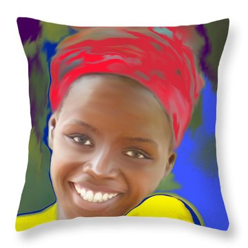 Smile Throw Pillow by Kume Bryant