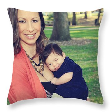Smile Throw Pillow by Laurie Search