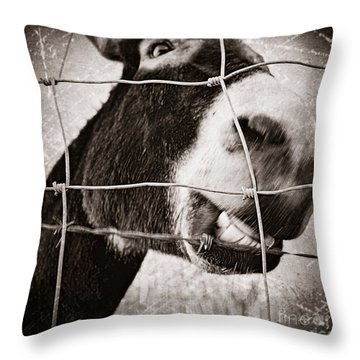 Smile Like You Mean It Throw Pillow