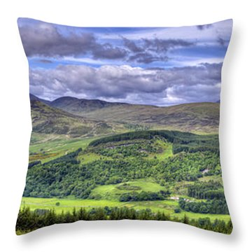 Smile Upon The Highlands Throw Pillow