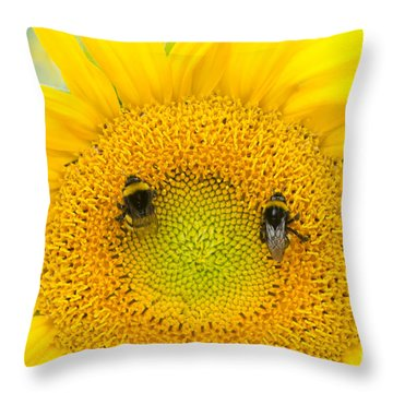 Smiley Throw Pillow by Michelle Meenawong