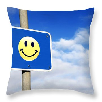 Smiley Throw Pillow
