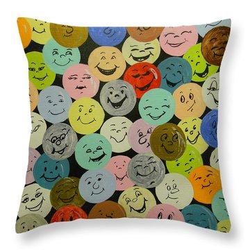 Smilies Throw Pillow