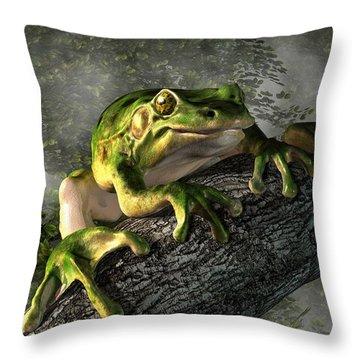 Giant Tree Frog Throw Pillows
