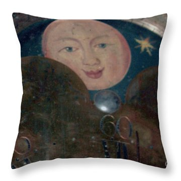 Throw Pillow featuring the photograph Smiling Moon by Lyric Lucas