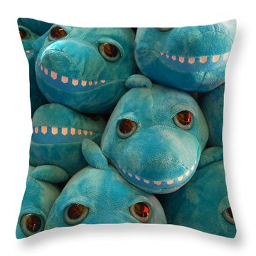 Smiling Sharks Throw Pillow