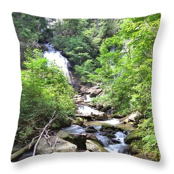 Smith Creek Downstream Of Anna Ruby Falls - 3 Throw Pillow