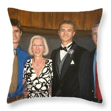 Smith Family Portrait Throw Pillow