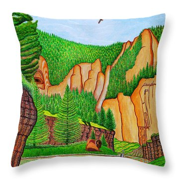 Smith River Montana Throw Pillow