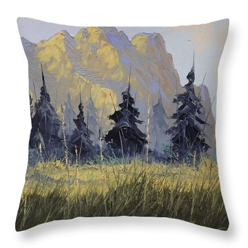 Smith Rock Oregon Throw Pillow