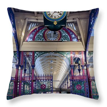 Throw Pillow featuring the photograph Smithfield Market by Shirley Mitchell