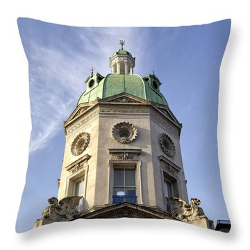 Throw Pillow featuring the photograph Smithfield Market Tower by Shirley Mitchell