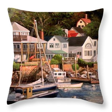 Smiths Cove Gloucester Throw Pillow by Eileen Patten Oliver