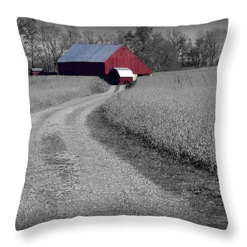 Smithsburg Barn Throw Pillow by Robert Geary