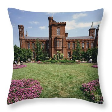 Smithsonian Institution Building Throw Pillow by Rafael Macia