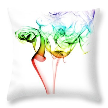 Smoke And Colours Throw Pillow