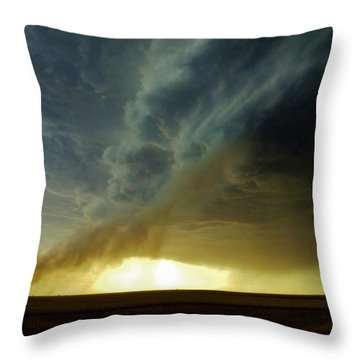 Smoke And The Supercell Throw Pillow
