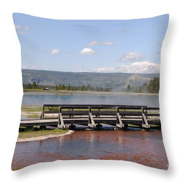 Smoke On The Water Throw Pillow by Mary Carol Story