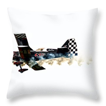 Smoke Rings Throw Pillow by Steven  Michael