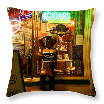 Smoke Shop Throw Pillow