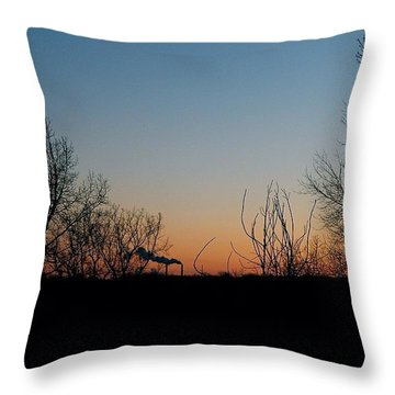 Smoke Stacks In The Distance Throw Pillow