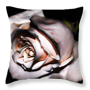 Smoked Rose Throw Pillow by Mariola Bitner