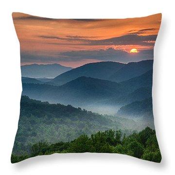 Smokey Awakening Throw Pillow by Christopher Mobley