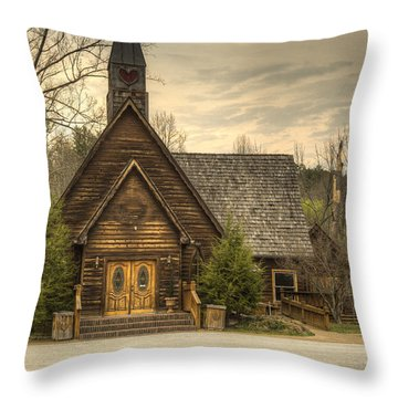 Smokey Mountain Love Chapel 2 Throw Pillow