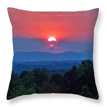 Smokey Mtn Sunset Throw Pillow