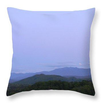 Smokies At Dusk Throw Pillow