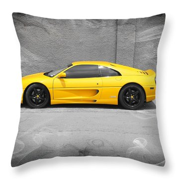 Smokin' Hot Ferrari Throw Pillow