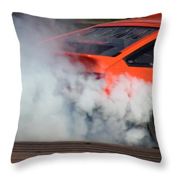 Smoking Ae86 Throw Pillow