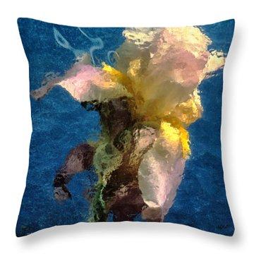 Smoking Iris Throw Pillow by Gary Slawsky