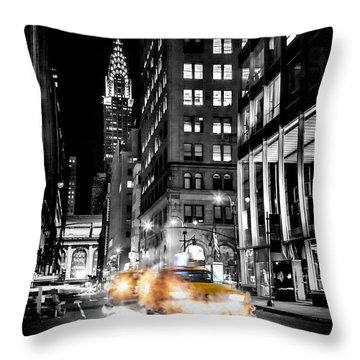 Smoking Streets Of New York  Throw Pillow