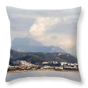 Smoky Clouds Throw Pillow