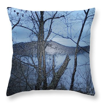 Smoky Mountain Fog Throw Pillow