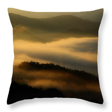 Smoky Mountain Spirits Throw Pillow