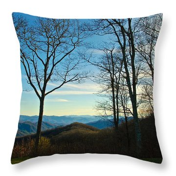 Smoky Mountain Splendor Throw Pillow