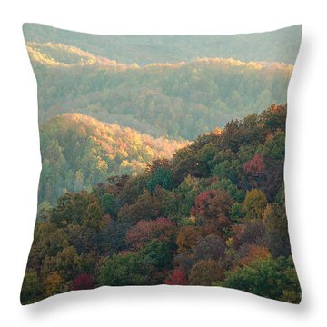 Throw Pillow featuring the photograph Smoky Mountain View by Patrick Shupert