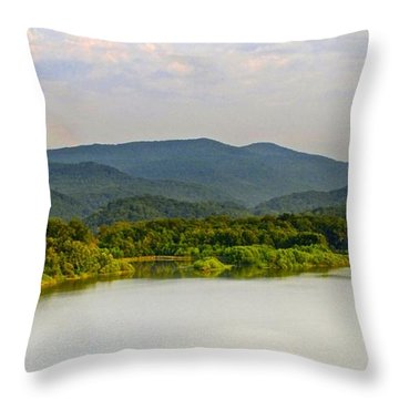 Smoky Mountains Throw Pillow by Frozen in Time Fine Art Photography