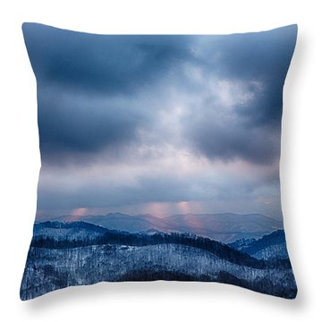 Smoky Sunset Throw Pillow by John Haldane