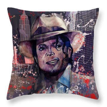 Smooth Criminal Throw Pillow by Bekim Art